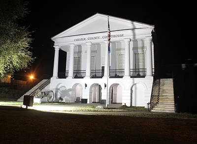Photograph - Chester South Carolina Court House Night 1 by Joseph C Hinson Photography