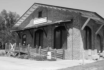 Photograph - Chester South Carolina Transportation Museum 10 Bw by Joseph C Hinson Photography