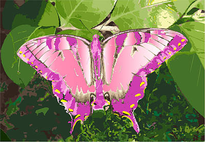 Digital Art - Chester The Giant Butterfly by Inge Lewis