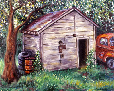 Farm Painting - Chester's Treasures by Linda Mears