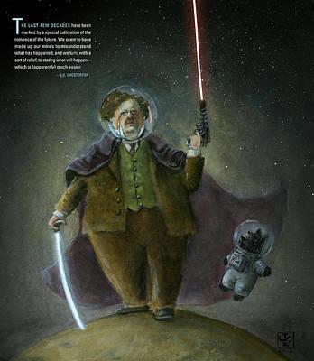 Chesterton In Space Art Print by Theodore Schluenderfritz