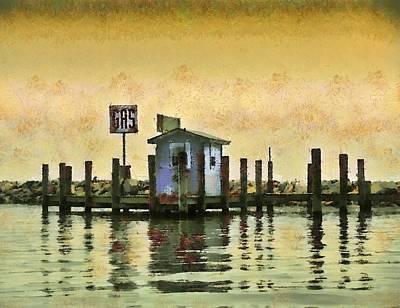 Chestertown Gas Dock Art Print