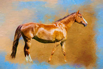 Painting - Chestnut Filly - Painting by Ericamaxine Price
