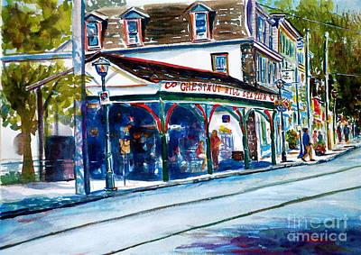 Chestnut Hill Station Art Print by Joyce A Guariglia