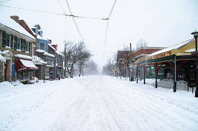 Germantown Photograph - Chestnut Hill - Wintertime by Bill Cannon