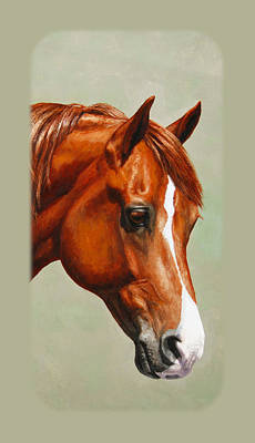 Chestnut Horse Painting - Chestnut Morgan Horse Phone Case by Crista Forest