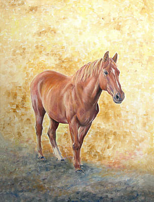 Chestnut Racehose Art Print by Elizabeth Lock
