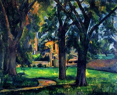 Painting - Chestnut Tree And Farm by Paul Cezanne