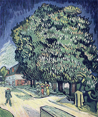 Large Group Of Objects Painting - Chestnut Trees In Blossom, 1890 by Vincent Van Gogh