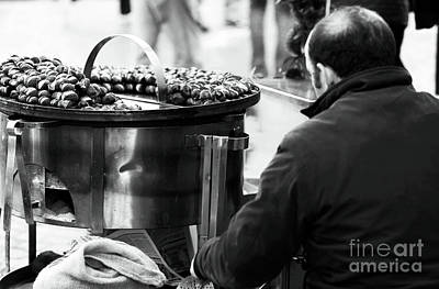 Photograph - Chestnuts In Rome by John Rizzuto
