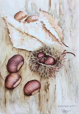Painting - Chestnuts by Victor Minca