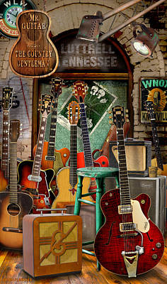 Grand Ole Opry Digital Art - Chet Atkins by Brian Florence