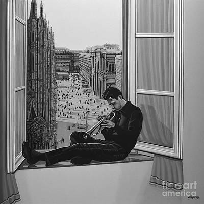 Black And White Art Painting - Chet Baker by Paul Meijering