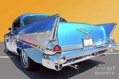 Photograph - Chev Bel Air 2 by Bill Thomson