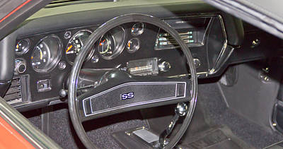 Barrett Jackson Wall Art - Photograph - Chevelle Interior by Wayne Vedvig