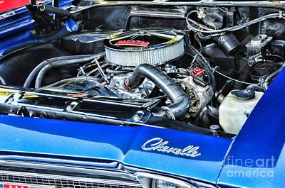Chevelle Muscle Car Art Print by Paul Ward
