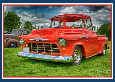 Photograph - Chevrolet 23-1956 Hydramatic 3100 by Wendy Wilton