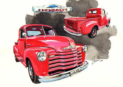 Pick Up Truck Painting - Chevrolet 3100 Pick Up by Yoshiharu Miyakawa