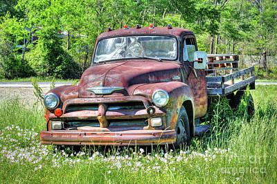 Photograph - 1954 Chevrolet 6400 Truck by Savannah Gibbs