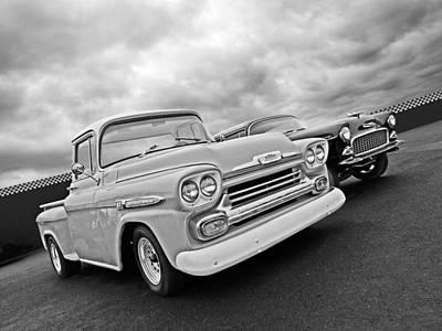 Chevrolet Apache 32 Black And White Art Print