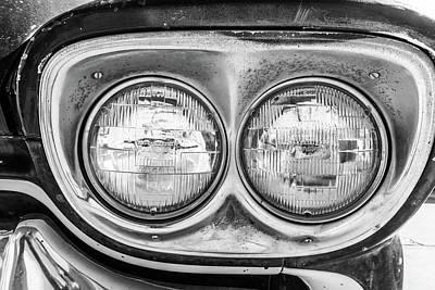 Photograph - Chevrolet Apache Headlights by Steven Green