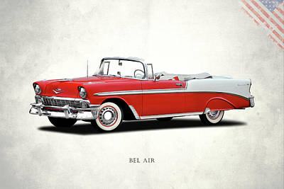 Retro Car Photograph - Chevrolet Bel Air 1956 by Mark Rogan