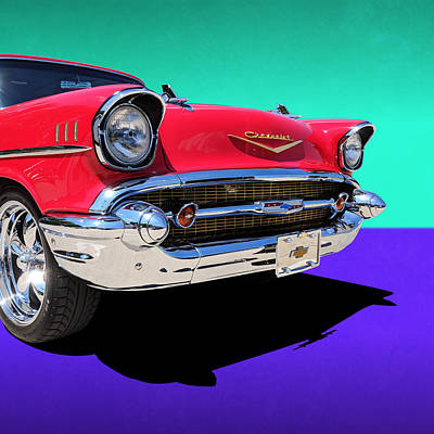Chevrolet Bel Air Color Pop Art Print