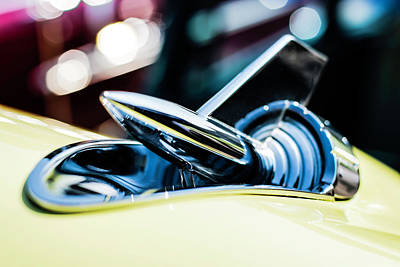 Photograph - Chevrolet Bel Air Hood Ornament by Chris Coffee
