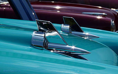 Glazier Photograph - Chevrolet Bel Air Hood Ornaments by Garth Glazier