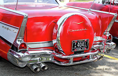 Photograph - Chevrolet Belair 1957 by Bonnie Willis