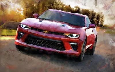 Painting - Chevrolet Camaro - 03 by Andrea Mazzocchetti