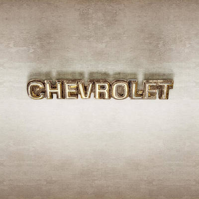 Photograph - Chevrolet Chrome Emblem by YoPedro