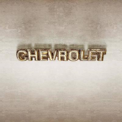 Classic Car.hot-rod Photograph - Chevrolet Chrome Emblem by YoPedro