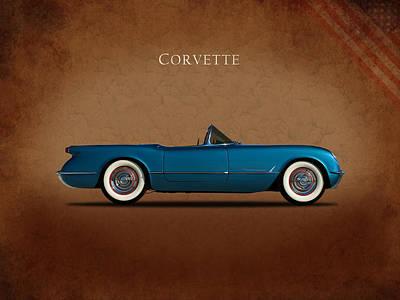 Photograph - Chevrolet Corvette 1954 by Mark Rogan
