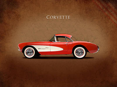 Muscle Cars Photograph - Chevrolet Corvette 1957 by Mark Rogan