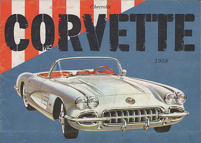 Mixed Media - Chevrolet Corvette 1958 by Movie Poster Prints