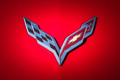 Photograph - Chevrolet Corvette Emblem -0406c by Jill Reger