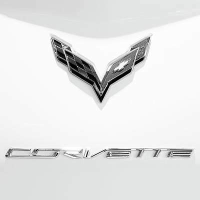 Photograph - Chevrolet Corvette Emblem 81516 by Rospotte Photography