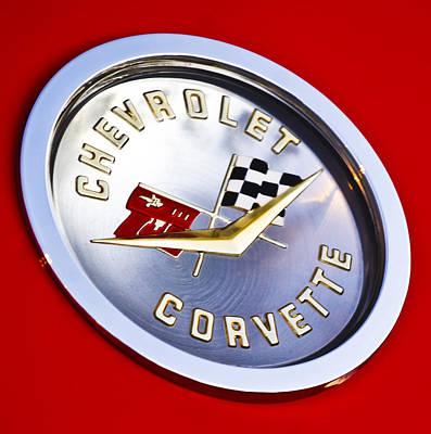 Photograph - Chevrolet Corvette Hood Ornament by Jill Reger