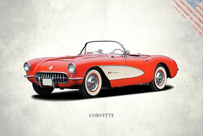Red Chevrolet Photograph - Chevrolet Corvette by Mark Rogan