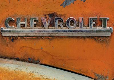 Photograph - Chevrolet Emblem by Jean Noren
