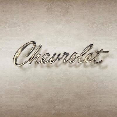 Classic Car.hot-rod Photograph - Chevrolet Emblem by YoPedro