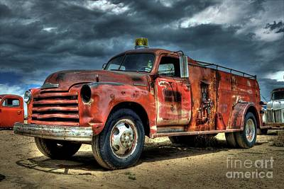 Photograph - Chevrolet Fire Truck by Tony Baca