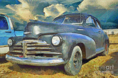 40s Painting - Chevrolet Fleetline by L Wright