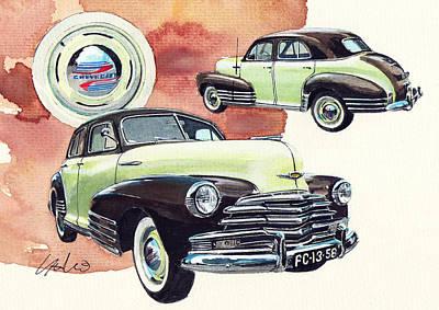 Chevrolet Fleetline Art Print by Yoshiharu Miyakawa