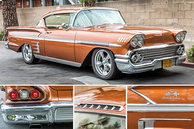 Photograph - Chevrolet Impala - 1958 by Gene Parks