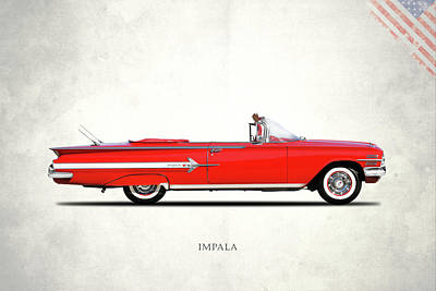 Chevrolet Impala Photograph - Chevrolet Impala 1960 by Mark Rogan