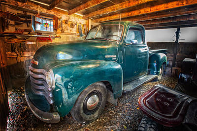 Photograph - Chevrolet In The Garage by Debra and Dave Vanderlaan