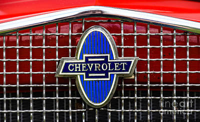 Photograph - Chevrolet Symbol by Grace Grogan