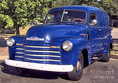 Photograph - Chevrolet Thriftmaster 3100 Panel Truck by Janice Drew